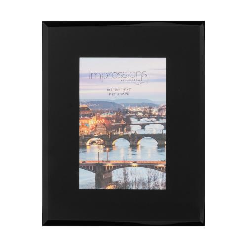 Widdop Black Glass Plain Design 4 x 6' Photo Frame