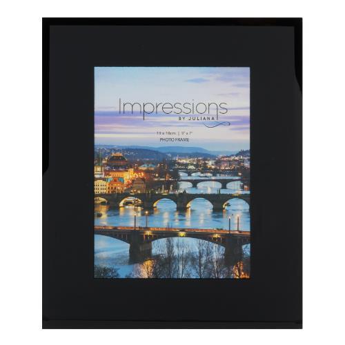 Widdop Black Glass Plain Design 5 x 7' Photo Frame