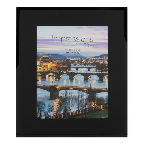 Widdop Black Glass Plain Design 6 x 8' Photo Frame