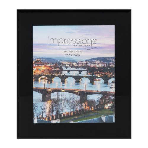 Widdop Black Glass Plain Design 8 x 10' Photo Frame