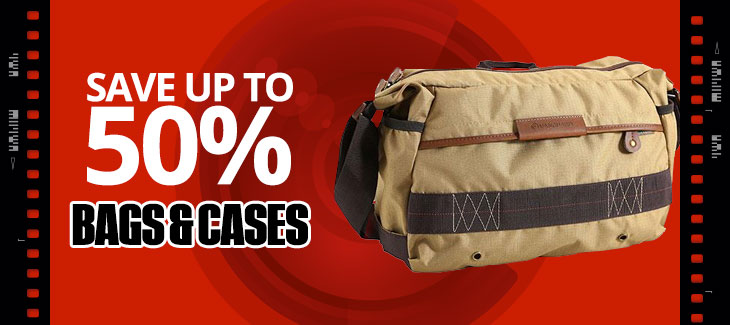 Save up to 50% on Bags and Cases
