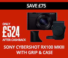 Sony Cybershot RX100 mkIII with Grip & Case