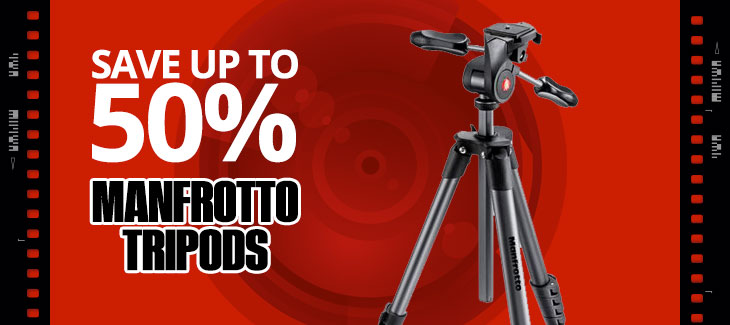 Save Up to 50% on Manfrotto Tripods