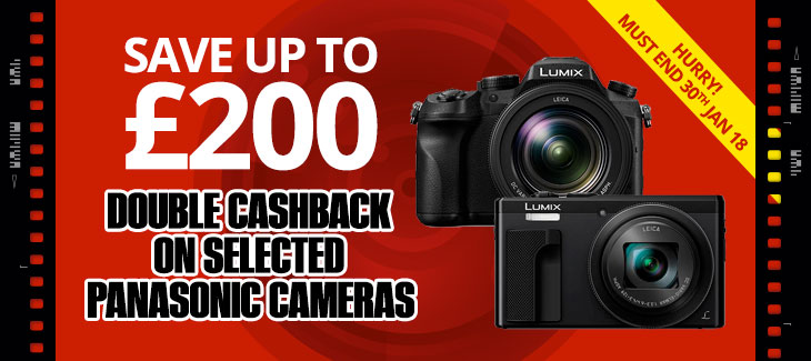 Double Cashback on selected Panasonic Cameras