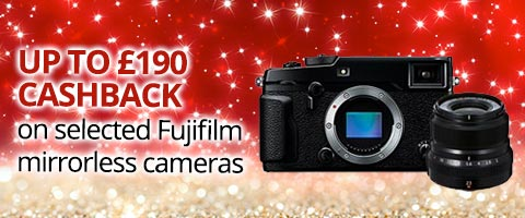 Fujifilm Mirrorless Cameras £190 Cashback