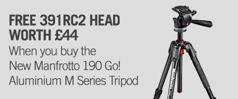 Manfrotto 190 Go! Aluminium M Series Tripod